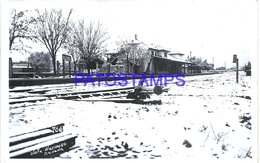 116090 ARGENTINA CORDOBA VALLE HERMOSO STATION TRAIN ESTACION DE TREN NEVADA PHOTO NO POSTAL POSTCARD - Argentine