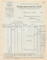 4-0818    Facture  1937  ETAB J.D.C A PUTEAUX - JULES ROUJON A MERVEJOLS LOZERE - France