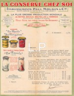 4-0821    Facture  1931 ETAB PAUL MOUGIN & CIE  A  BRIVE LA GAILLARDE - France