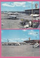 FIUMICINO,AEROPORT INTERNATIONAL DE ROME,2 CARTES. - Fiumicino