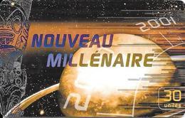 CARTE-PUCE-POLYNESIE-PF-108-30U-GEMA-12/2000-NOUVEAU-MILLENAIRE-MERCURE-UTILISE-TBE - Polynésie Française