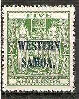SAMOA 1945 5s POSTAL FISCAL STAMP SG 208 LIGHTLY MOUNTED MINT Cat £21 - Samoa