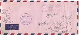 Saudi Arabia Airmail Franking Machine Cancellation 2.50r Postal History Cover Sent From Saudi Arabia To Pakistan - Saudi-Arabien