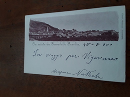 Cartolina Postale 1900, Alessandria,  Serravalle Scrivia - Alessandria
