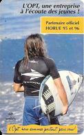 CARTE-PUCE-POLYNESIE-60U-PF48-GEMB-Fond De Puce Noir-05/96-SURFEUR-UTILISE-TBE-L - Polynésie Française