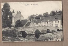 CPA 23 - FELLETIN - Le Pont Raby - TB PLAN EDIFICE CENTRE VILLAGE + Vue Maisons Habitations + TB  Oblitération Verso - Felletin
