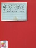 POISSONS HAUTE MARNE   Pharmacien VALNOT  ETIQUETTE ANCIENNE PHARMACIE Du Rongeant    CIRCA 1900 - Etiquettes