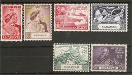 SARAWAK 1948 SILVER WEDDING AND 1949 UPU SETS LIGHTLY MOUNTED MINT Cat £56+ - Sarawak (...-1963)
