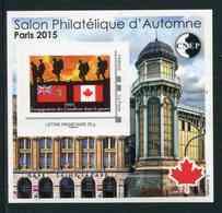 """FEUILLET-SOUVENIR** De 2015 De La CNEP """"SALON PHILATELIQUE DE PRINTEMPS à PARIS - TIMBRE : Canada"""" - CNEP"""
