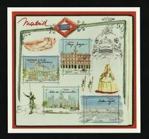 Entier Postal - 2019 - Carte Pré-timbrée à Validité Permante International - Madrid, Capitale Européenne - Prêts-à-poster:Stamped On Demand & Semi-official Overprinting (1995-...)