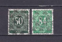 Bizone - 1948 - Michel Nr. 66 II + 68 II - Zone Anglo-Américaine