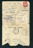 1953 Royal Air Force M.E.A.F. Cowes Cover - R.A.F. Ismailia, Suez Nicosia FPO (inc 4 X Redirection Labels) Egypt - 1952-.... (Elizabeth II)