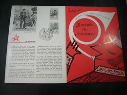 """BELG.1964 1284  Feuillet Fr.de La Poste (Bruxs) :"""" Journée Du Timbre """" - FDC"""