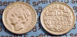 Niederlande NEDERLAND 10 Cent Silber 1941    (b477 - Niederlande