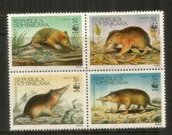 WWF.Les Solénodontes (Musaraignes De Le Rep.Dominicaine) Espèces En Danger. 4 Timbres Neufs ** - Unused Stamps