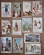 12 Cartons Publicitaires CHOCOLAT GRONDARD, Thèmes Variés - Chocolate