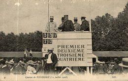 CPA RARE COURSES DE VENDOME 12 JUILLET 1908 LA LIGNE D'ARRIVEE - Vendome