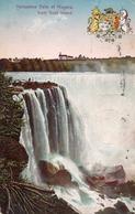 HORSESHOE FALLS OF NIAGARA FROM GOAT ISLAND-VIAGGIATA-1951 - Niagara Falls