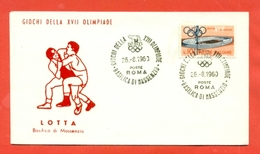 LOTTA - OLIMPIADI ROMA - 1960 - Lotta