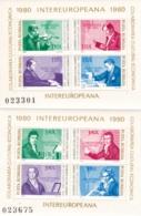 Rumänien, 1980, 3713/20 Block 169/70, MNH **,  INTEREUROPA. - Hojas Bloque
