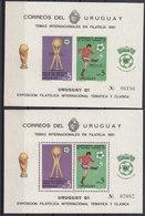 Soccer World Cup 1982 - Football - URUGUAY - S/S Perf+imp. MNH - Fußball-Weltmeisterschaft