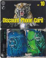 SWITZERLAND - PHONE CARD - PRÉPAIES SUISSE *** 2 X TIGRES *** - Schweiz