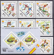 Soccer World Cup 1982 - Football - HUNGARY - S/S+Set Imp. MNH - Coppa Del Mondo
