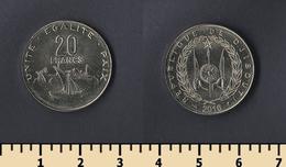 Djibouti 20 Francs 2016 - Dschibuti