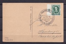DEUTSCHES REICH AK HAMBURG ST. PAULI Mit Nr 608 SST 30.7.1936 - Germania