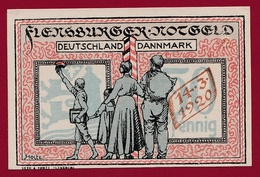 Allemagne 1 Notgeld 50 Pfenning Stadt Flensburg  (RARE)dans L'état Lot N °4344 - [ 3] 1918-1933: Weimarrepubliek