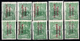 NICARAGUA - 1891 - Service - N° 11 à 20 - (Lot De 10 Valeurs Différentes) - Nicaragua