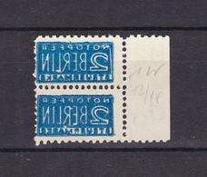 Bizone - Zwangs. - 1948/49 - Paar - Abklatsch - Zone Anglo-Américaine