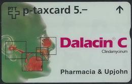 RR--549-. SUPERBE Carte PRIVÉE PHARMACIA & UPJOHN , TRES  PEU COURANTE ,  COTE 40.00 €, TIRAGE 1500 EXEMPLAIRES - Suisse