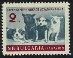 Bulgaria 1961. Perros En El Espacio. Space Dogs. Mi 1249. MNH. **. - Bulgaria