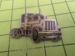 910b Pin's Pins / Beau Et Rare : THEME : TRANSPORTS / CAMION AMERICAIN MACK ? NOIR ET ARGENT - Transports