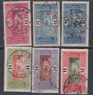 Dahomey N° 79 / 84 O  Timbres Surchargés. La Série Des 6 Valeurs Oblitérations Moyennes à Belles,  TB - Dahomey (1899-1944)