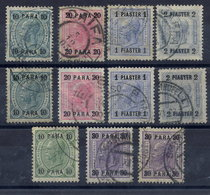 AUSTRIAN POST In The LEVANT 1903-07 Surcharges On Franz Joseph, Used. Michel 43-52b - Eastern Austria