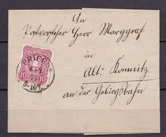 DEUTSCHES REICH BRIEF MiNr 33 PRIEBUS V. 4.7.1877 - Duitsland