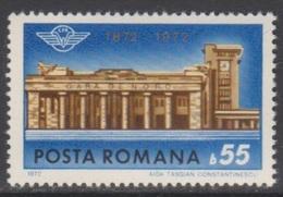 ROUMANIE 1972 1 TP Centenaire De La Gare Du Nord à Bucarest N° 2697 Y&T Neuf ** - 1948-.... Republiken