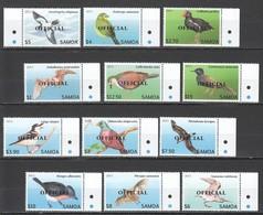 V857 2013 SAMOA FAUNA BIRDS OVERPRINT OFFICIAL 1SET !!! 41 EURO MICHEL MNH - Altri