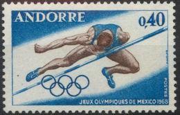 Andorra Francesa 1968. Olimpiada Mexico. SG F213. MNH. **. - Andorra Francesa