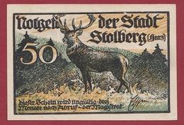 Allemagne 1 Notgeld 50 Pfenning Stadt Stolberg  (RARE) Dans L'état Lot N °4362 - Verzamelingen