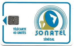 @+ Sénégal - 40U - SC4 - N°C1141011 Rouge - REF : SEN-14C - Sénégal