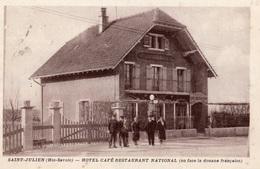 SAINT-JULIEN-EN-GENEVOIS HOTEL CAFE RESTAURANT NATIONAL (EN FACE LA DOUANE FRANCAISE) - Saint-Julien-en-Genevois