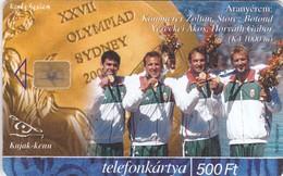 Hungary, P-2000-53, Hungarian Olympic Winners, 2000 Sydney, Férfi Kajak 4-es, 2 Scans. - Hungary