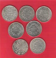 Lot De 7 Pièces 10 Francs Hercule Argent Bel état - Francia