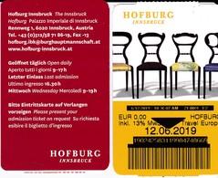 Tickets D'entrée Palais Impérial D'Hofburg Innsbruck Autriche - Tickets D'entrée