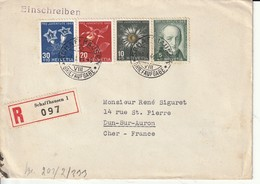 Suisse:serie  Pro  Juventute 1943  Reco   .censure  Allemande - Pro Juventute