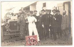 MAROC - MILITARIA - CARTE PHOTO - 1919 - Réunion Officielle De Militaires - Altri