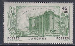 Dahomey  N° 115 X Partie 150ème Ann. De La Révolution : 45 C. + 25 C. Vert Trace De Charnière Sinon TB - Dahomey (1899-1944)